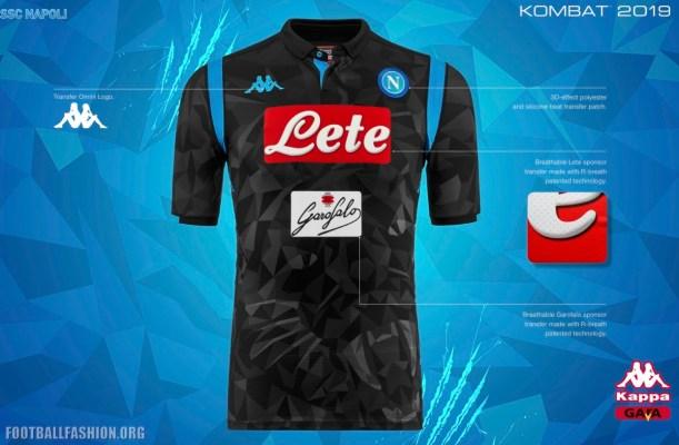 SSC Napoli 2018 2019 Kappa Away Football Kit, Soccer Jersey, Shirt, Maglia, Gara, Camiseta, Camisa