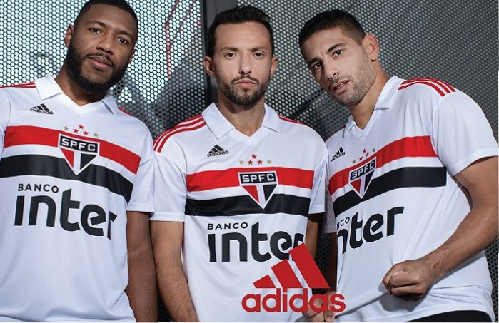 São Paulo FC 2018 2019 adidas Soccer Jersey, Football Kit, Shirt, Camiseta de Futbol, Camisa I do Futebol