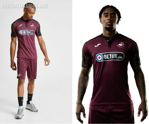 Swansea City 2018 2019 Joma Third Football Kit, Soccer Jersey, Shirt