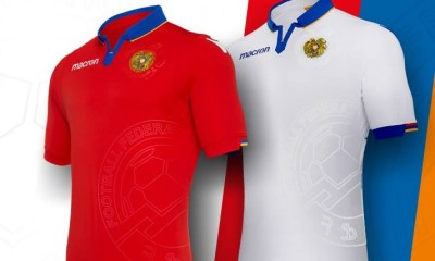 Armenia 2018 2019 Macron Home and Away Football Kit, Soccer Jersey