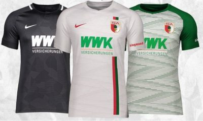 FC Augsburg 2018 2019 Nike Home and Away Football Kit, Soccer Jersey, Shirt, Trikot