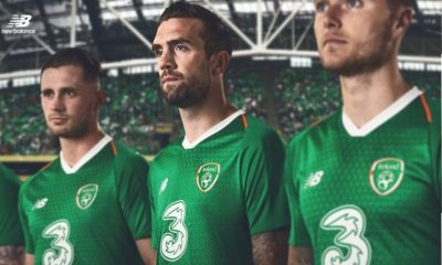 Republic of Ireland 2018 2019 New Balance Green Away Football Kit, Soccer Jersey, Shirt