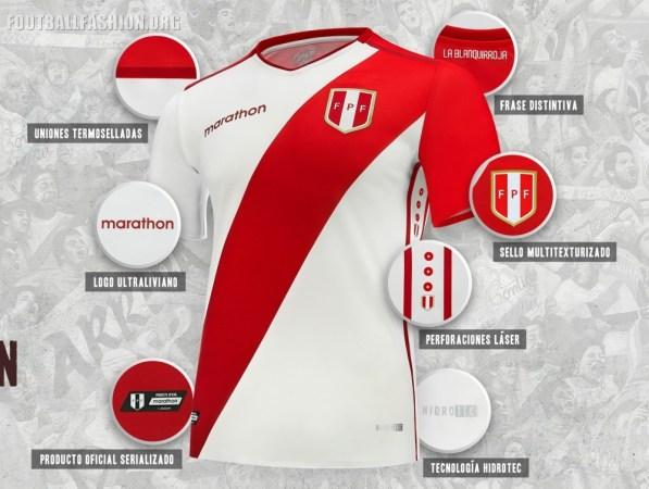 Peru 2018 2019 Marathon Sports Home Soccer Jersey, Football Shirt, Shirt, Camiseta de Futbol, Equipacion