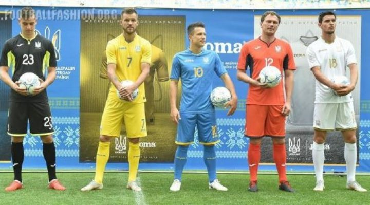 Ukraine 2018 2019 Joma Home and Away Football Kit, Soccer Jersey, Shirt