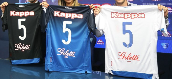 Empoli FC 2018 2019 Kappa Home, Away and Third Football Kit, Soccer Jersey, Shirt