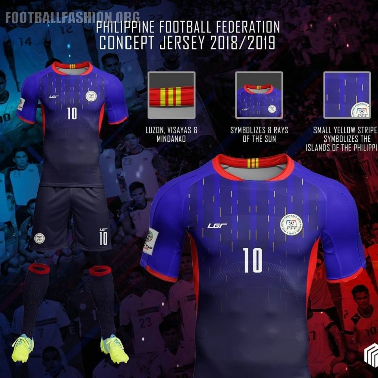 0e706099ad1 Philippines Azkals 2018 2019 LGR Home and Away Football Kit, Soccer Jersey,  AFF Suzuki
