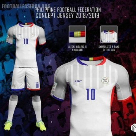 Philippines Azkals 2018 2019 LGR Home and Away Football Kit, Soccer Jersey, AFF Suzuki Cup Shirt