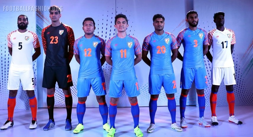 f052cd97501 India 2019 Six5Six Home and Away Kits - FOOTBALL FASHION.ORG