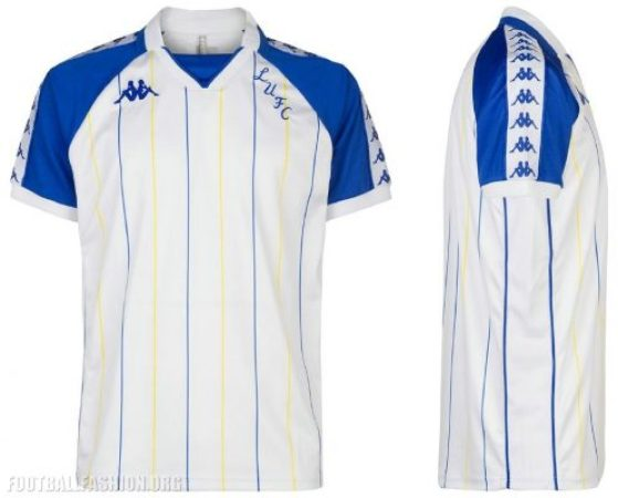 Leeds United 2018 2019 Kappa Retro Football Kit , Soccer Jersey, Shirt
