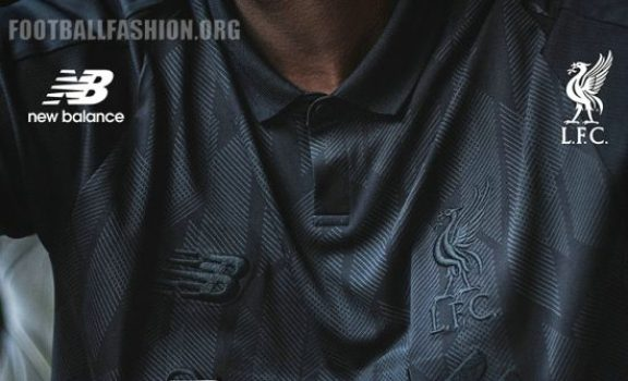 Liverpool FC 2018 2019 White New Balance Black Football Kit, Soccer Jersey, Shirt, Camiseta, Camisa, Maillot, Trikot