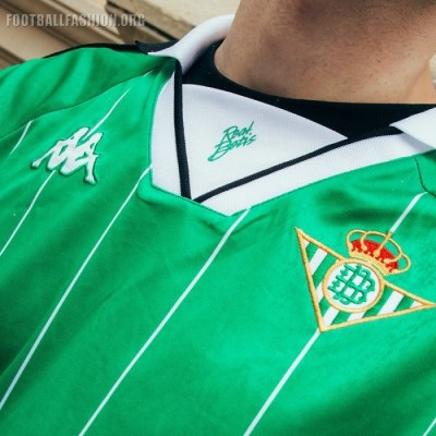Real Betis 2018 2019 Kappa Retro Football Kit, Soccer Jersey, Shirt, Camiseta de Futbol, Equipacion