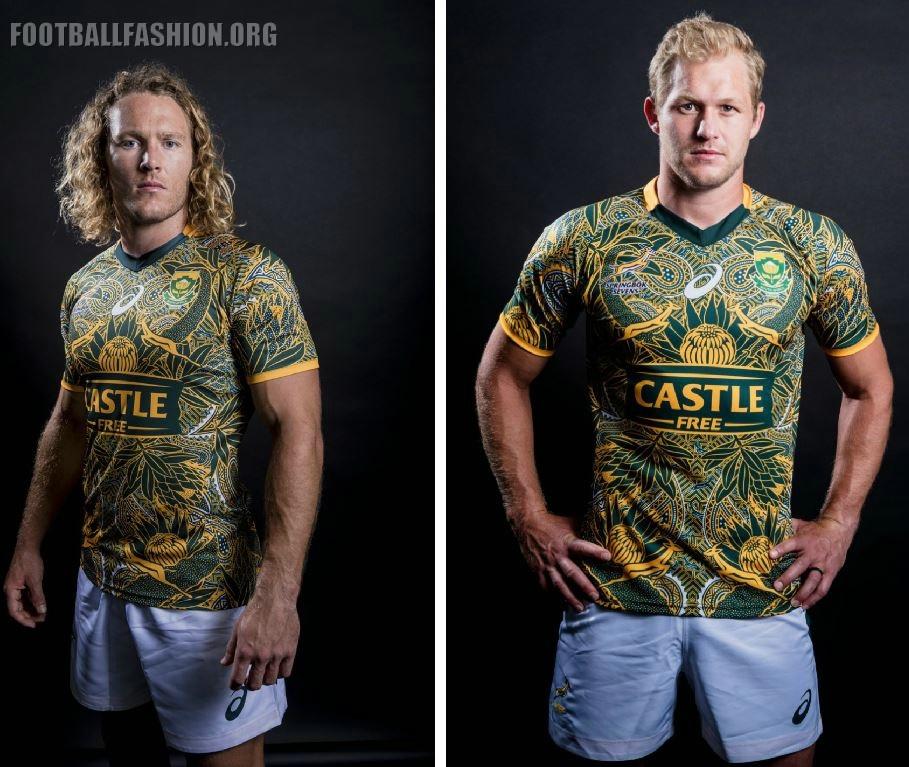 0365175473b South Africa Nelson Mandela 2018 2019 Centenary Asics Rugby Jersey, Shirt,  Kit