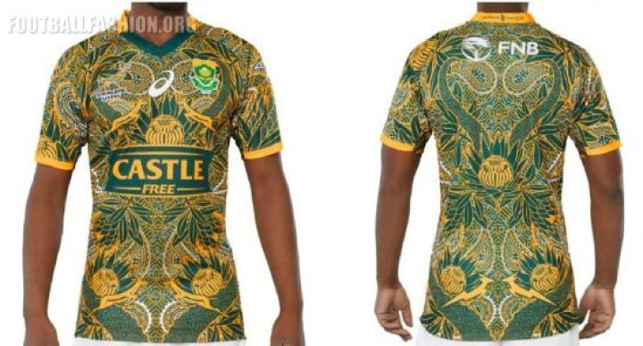 South Africa Nelson Mandela 2018 2019 Centenary Asics Rugby Jersey, Shirt, Kit