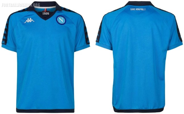 SSC Napoli 2018 2019 Kappa Retro Football Kit, Soccer Jersey, Shirt, Maglia, Gara