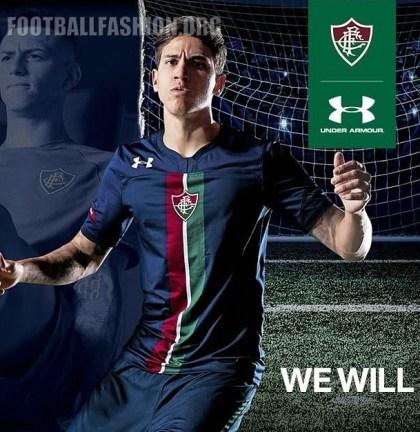 Fluminense 2019 Under Armour Third Football Kit, Soccer Jersey, Shirt, Camisa