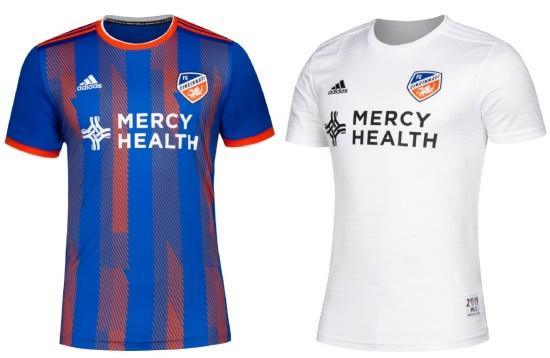 FC Cincinnati 2019 adidas Home and Away Soccer Jersey, Shirt, Football Kit, Camiseta de Futbol