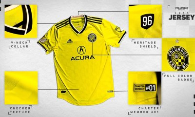 Columbus Crew 2019 adidas Home Soccer Jersey, Shirt, Football Kit, Camiseta de Futbol