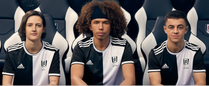 Fulham FC 2019 140th Anniversary adidas Football Kit, Soccer Jersey, Shirt