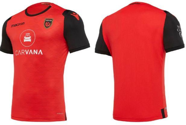 Phoenix Rising FC 2019 Macron Soccer Jersey, Football Kit, Shirt, Camiseta de Futbol USL
