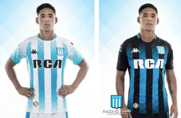 Racing Club 2019 Kappa Home and Away Football Kit, Soccer Jersey, Shirt, Camiseta de Futbol