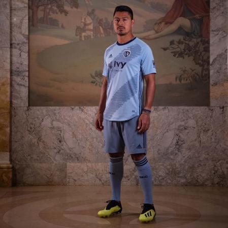 Sporting KC 2019 adidas Home Soccer Jersey, Football Kit, Shirt, Camiseta de Futbol