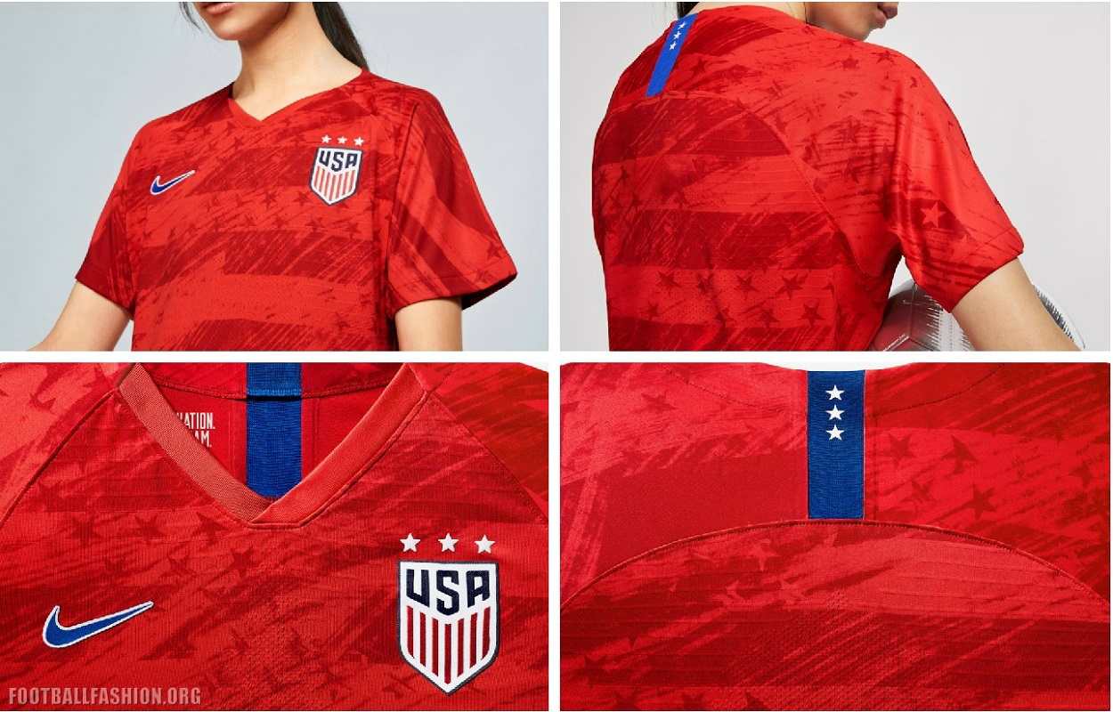 7a96454bb USA 2019 Women's World Cup Nike Soccer Jersey, Football Shirt, Kit,  Camiseta de. As the away ...