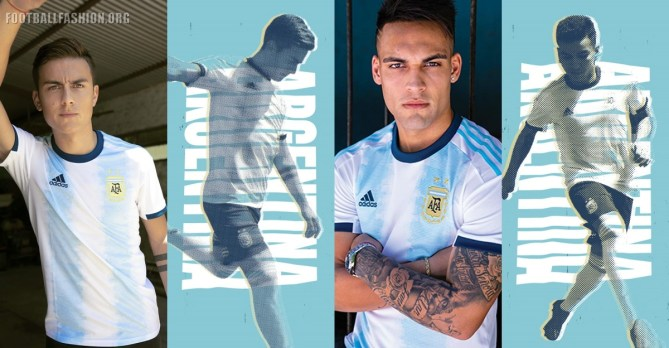 Argentina 2019 Copa America and Women's World Cup adidas Home Football Kit, Soccer Jersey, Shirt, Camiseta de Futbol