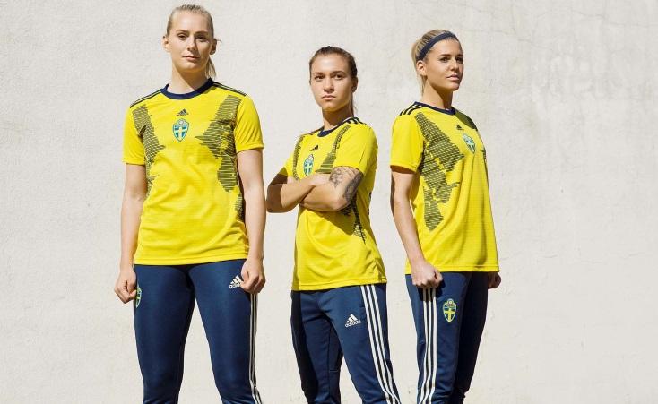 ed8c3b6f729 Sweden 2019 Women s World Cup adidas Home Kit - FOOTBALL FASHION.ORG