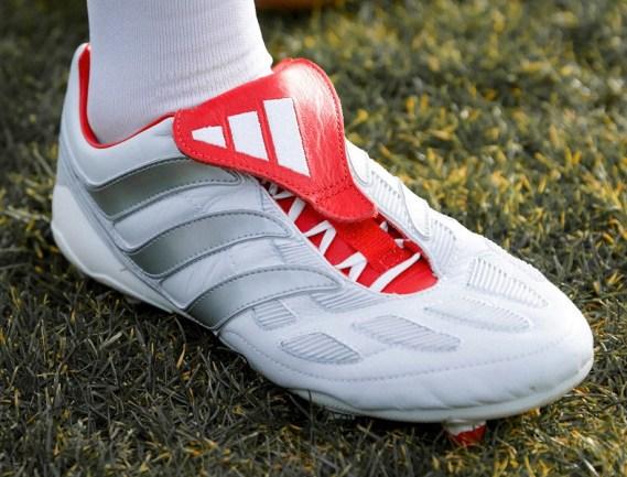 adidas Celebrates 25 Years of the Predator Soccer Boot with Football Stars David Beckham & Zinedine Zidane