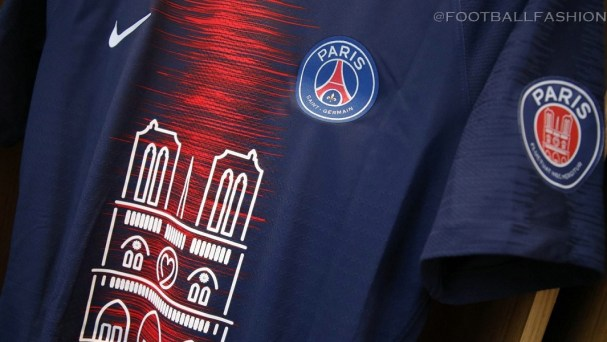 Paris Saint-Germain 2019 Notre Dame Nike Commemorative Football Kit, Soccer Jersey, Shirt, Maillot PSG