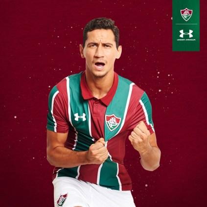 Fluminense 2019 2020 Under Armour Home Football Kit, Soccer Jersey, Shirt, Camisa