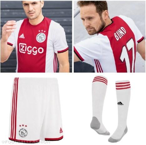 AFC Ajax 2019 2020 adidas Home Football Shirt, Kit, Soccer Jersey, Thuisshirt, Thuistenue