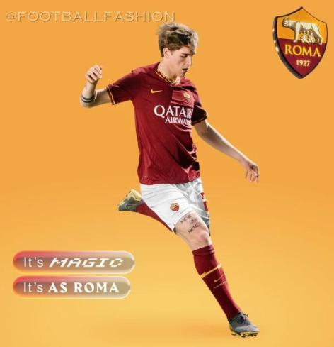 AS Roma 2019 2020 Nike Home Football Kit, Soccer Jersey, Shirt, Camiseta, Camisa, Maglia, Gara, Trikot, Maillot, Tenue