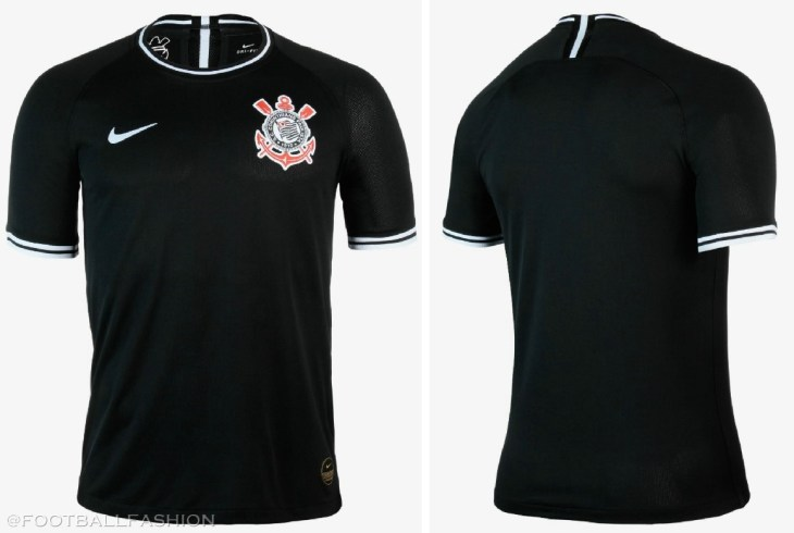 Corinthians 2019 2020 Nike Black Away Football Kit, Soccer Jersey, Shirt, Camisa