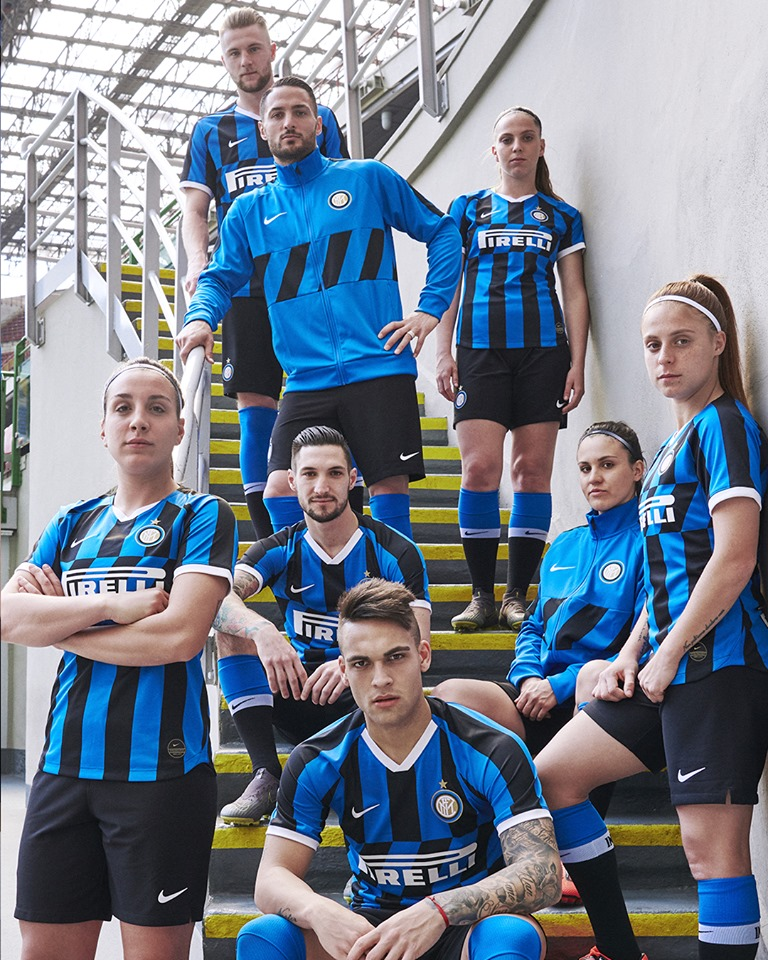 finest selection 0f7b4 052bc Inter Milan 2019/20 Nike Home Kit - FOOTBALL FASHION.ORG