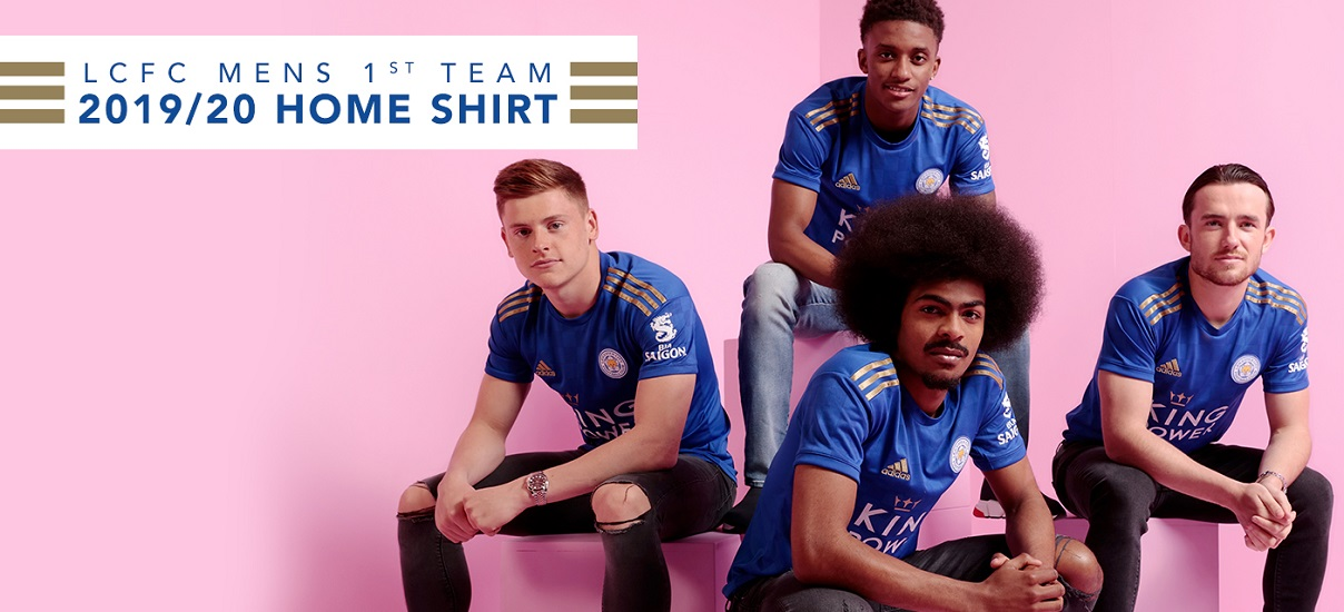 adidas 2019 2020 Leicester City Home Football Soccer T Shirt