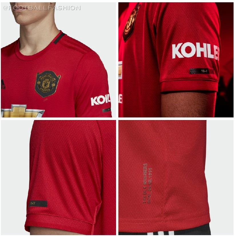 low priced a878b c86ce Manchester United 2019/20 adidas Home Kit - FOOTBALL FASHION.ORG