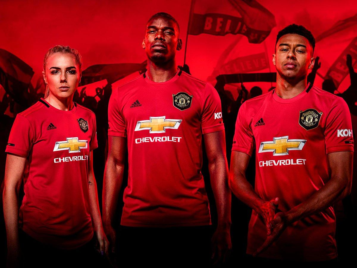 db693d818f4 Manchester United 2019 2020 Red adidas Home Football Kit, Soccer Jersey,  Shirt, Camiseta