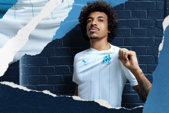 Olympique Marseille 2019 2020 PUMA Home Kit, Soccer Jersey, Shirt, Maillot