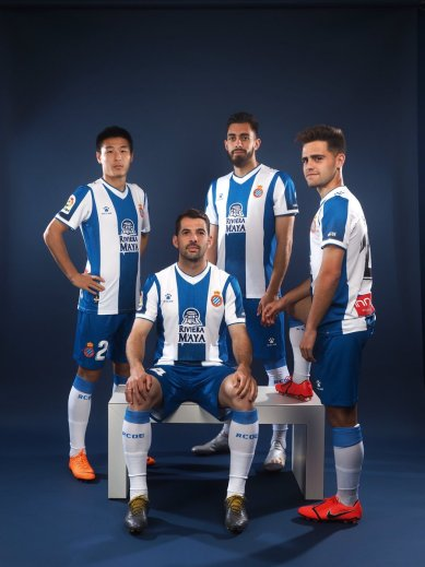 RCD Espanyol 2019 2020 Kelme Home Football Kit, Soccer Jersey, Shirt, Camiseta de Futbol