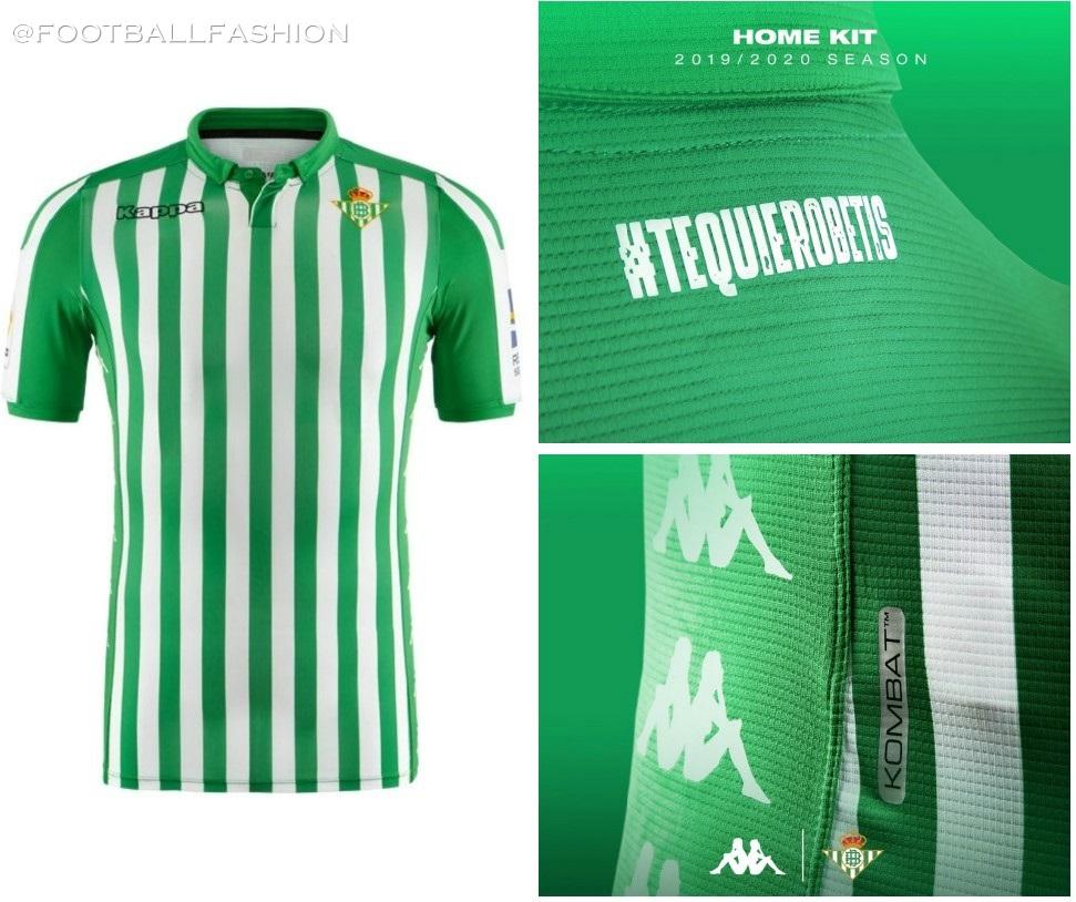 Real Betis 2019 20 Kappa Home Kit Football Fashion Org