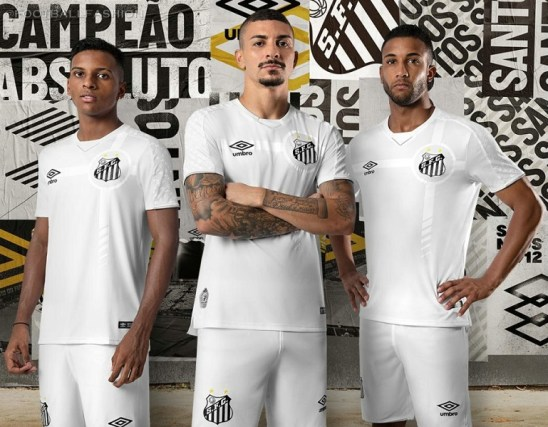 Santos FC 2019 2020 Umbro Home Football KIt, Soccer Jersey, Shirt, Camisa, Camiseta