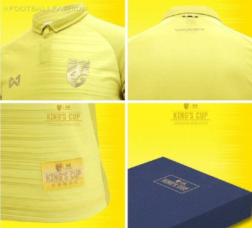 Thailand 2019 King's Cup Football Kit, Soccer Jersey, Shirt
