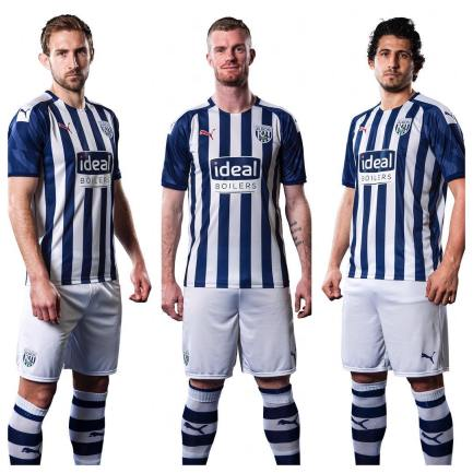 West Bromwich Albion 2019 2020 PUMA Home Football Kit, Soccer Jersey, Shirt