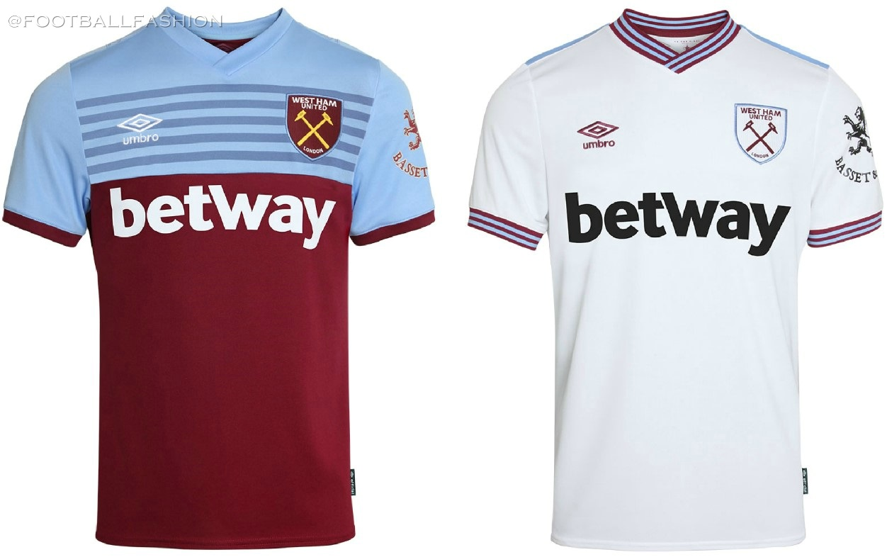 save off 94a23 12f56 West Ham United 2019/20 Umbro Home and Away Kits - FOOTBALL ...