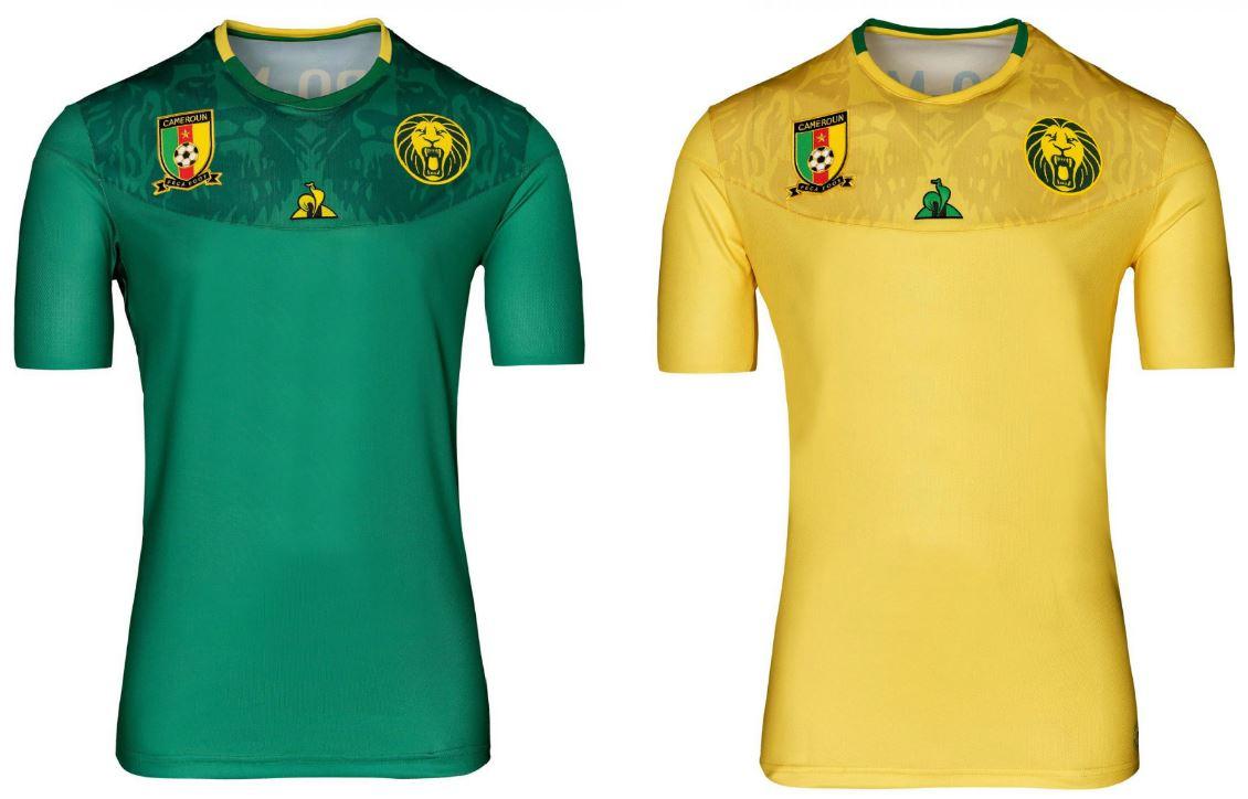 more photos 3559c 4582b Cameroon 2019 AFCON le coq sportif Kits - FOOTBALL FASHION.ORG