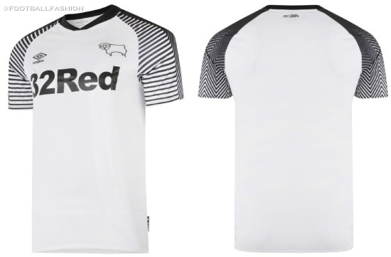 Derby County 2019 2020 Umbro Home Football Kit, Soccer Jersey, Shirt