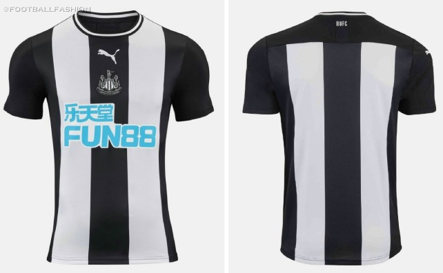 Newcastle United 2019 2020 PUMA Home Football Kit, Soccer Jersey, Shirt, Camiseta, Maillot, Camisa, Trikot