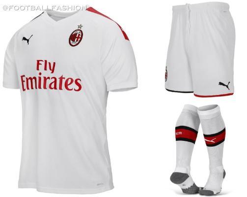 AC Milan 2019 2020 PUMA White Away Soccer Jersey, Shirt, Football Kit, Gara, Maglia, Camisa, Camiseta, Maillot, Trikot