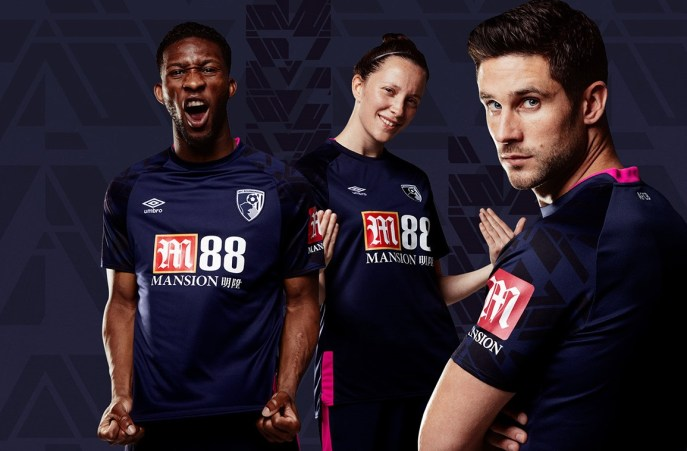 AFC Bournemouth 2019 2020 Umbro Away Football Kit, Soccer Jersey, Shirt
